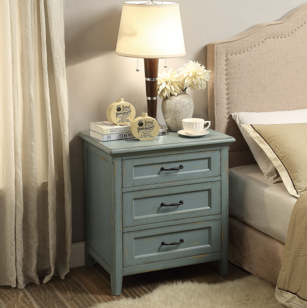 American Nightstand with three drawers