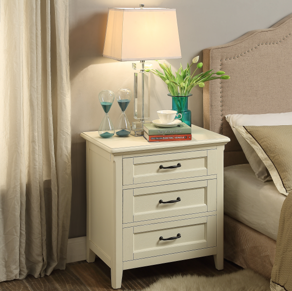 American classic nightstand with three drawers