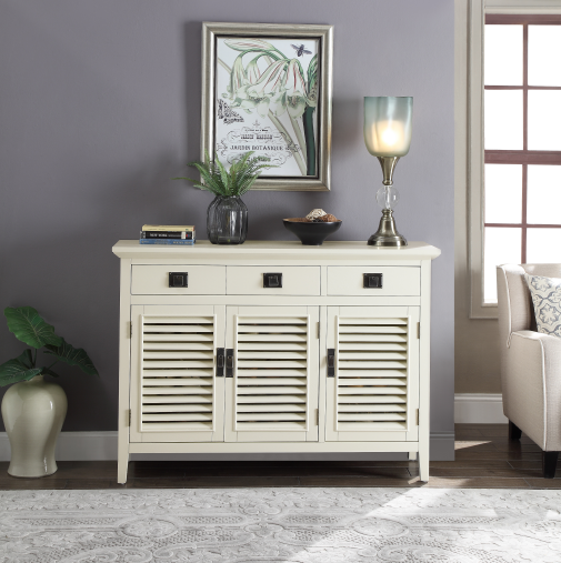American Ivory shoe bench with three doors