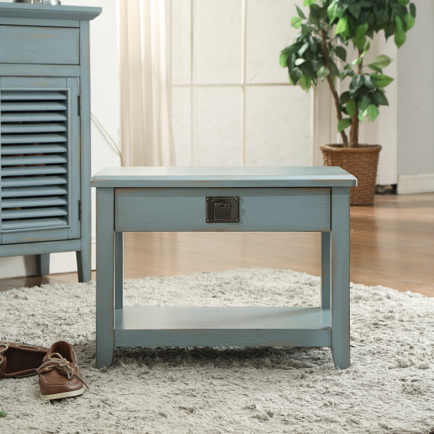 Grey blue shoes stool