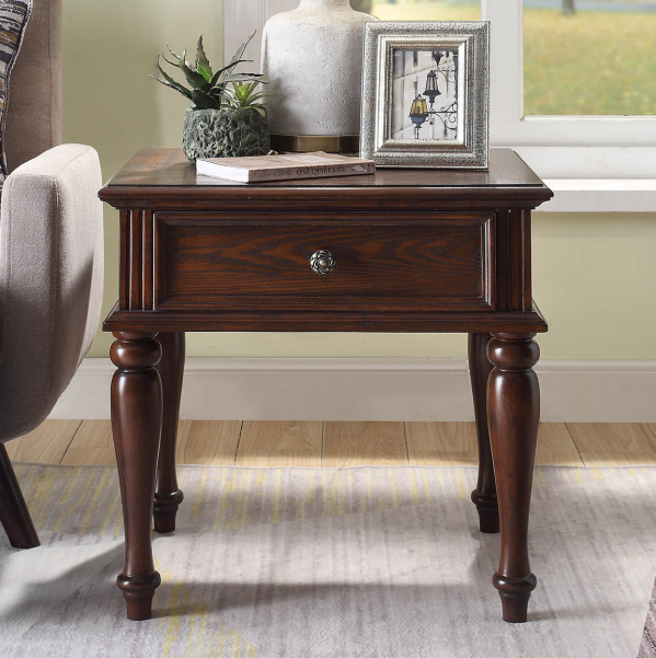 American solid wood side table