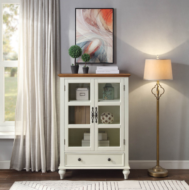 Double-sided glass cabinet