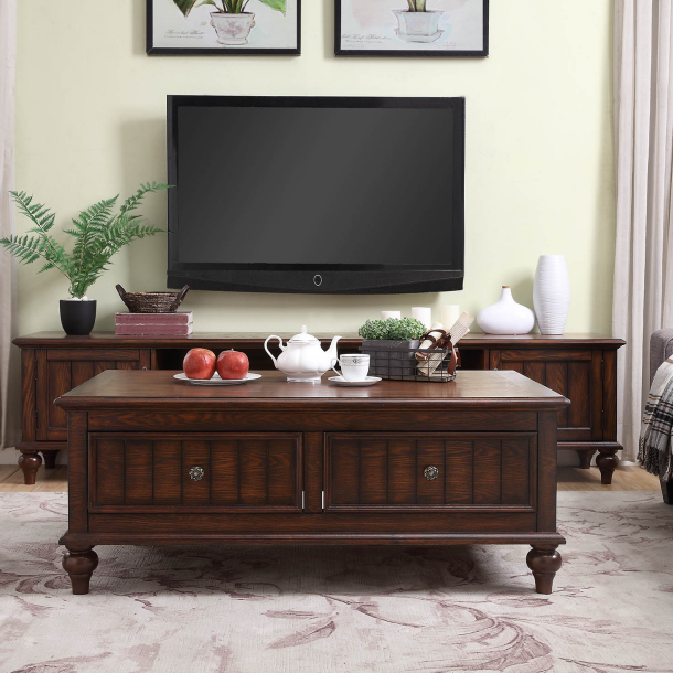 American solid wood TV cabinet