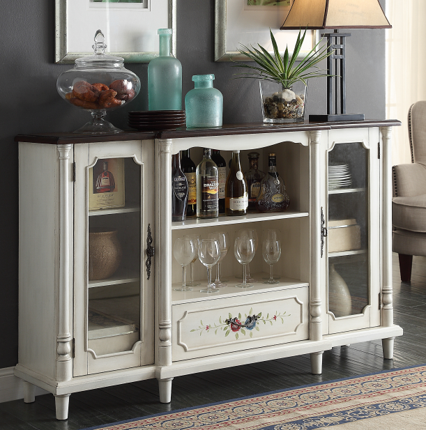 Classic wine Cabinet cabinet with two doors and one drawer