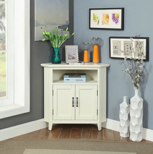 Ivory color corner cabinet buying leads