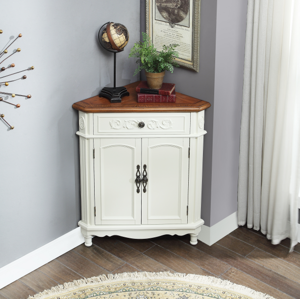 Classic white color corner cabinet buying leads