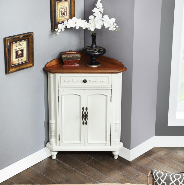 Hot sell white color corner cabinet