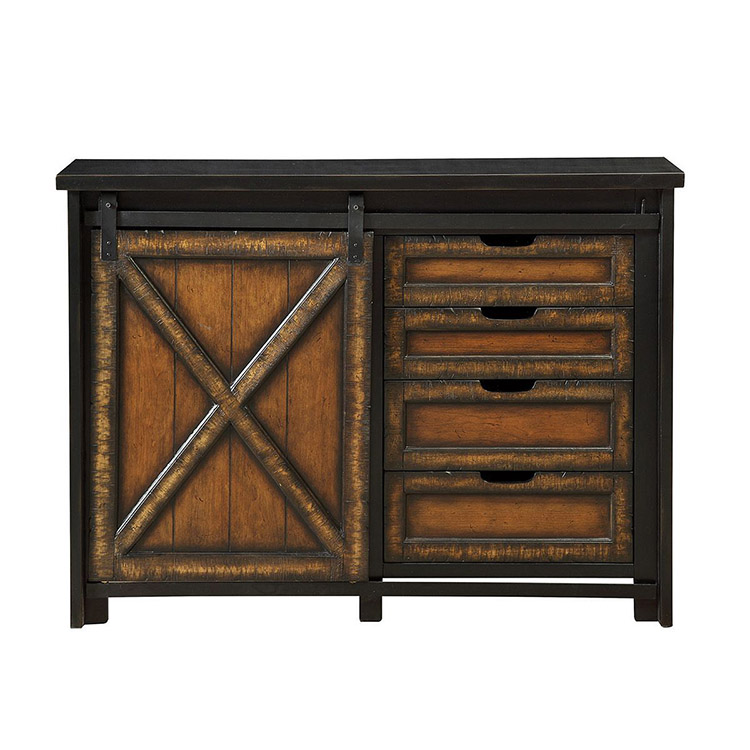 Cabinet with one door and four drawers