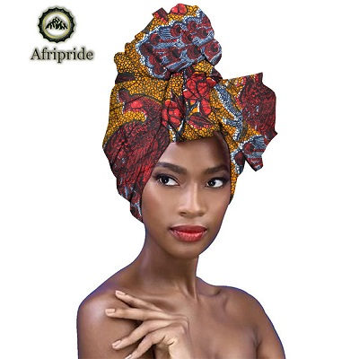 2019 dashiki African Head Scarf print cotton high quality african traditional Bazin Rich Headwear A6S05