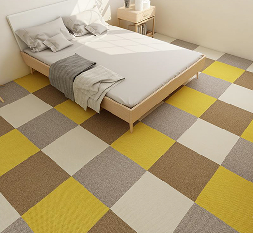Japan full-piece no glue environmentally friendly self-adhesive carpet tiles for children's bedroom