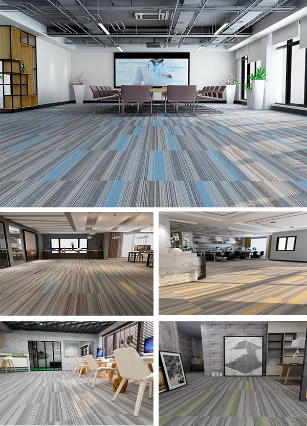 Long stripe; Multi-colors carpet