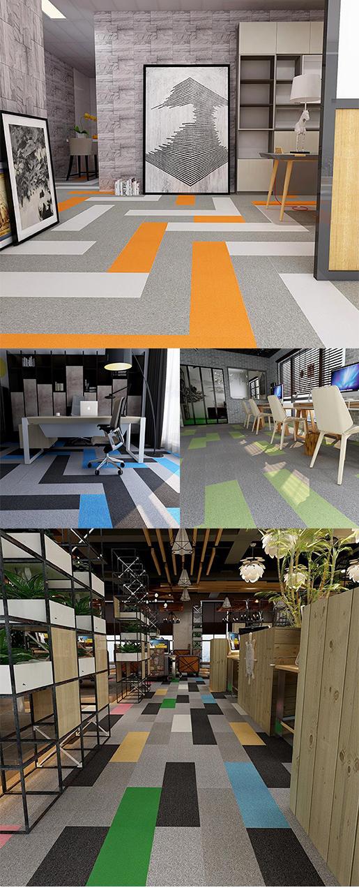 Good quality nylon; Flame retardant B1 carpet-Rubik's Cube