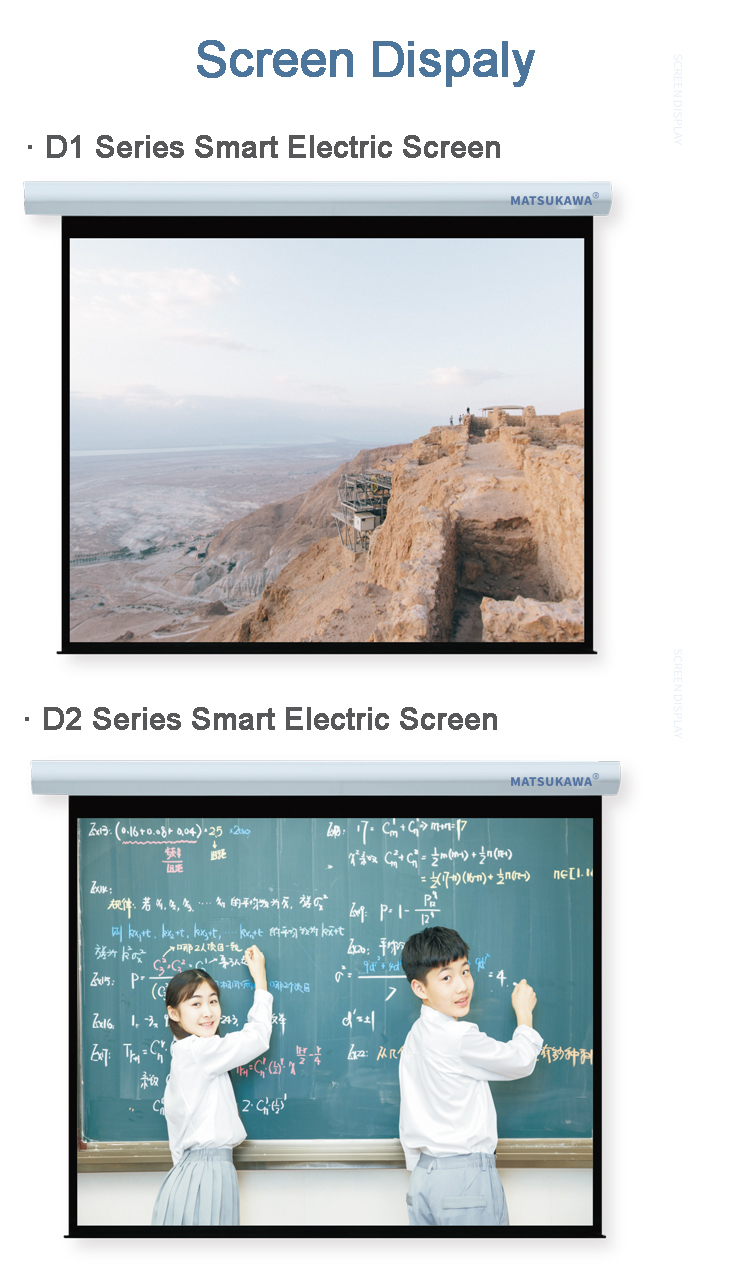 Motorized (or electric) screens - buying leads