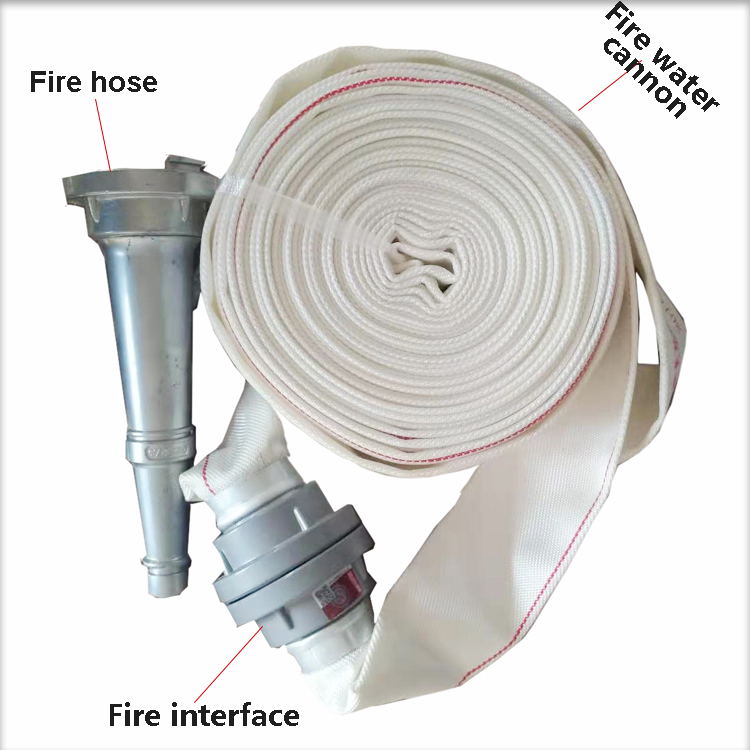 Fire hose, interface, water cannon