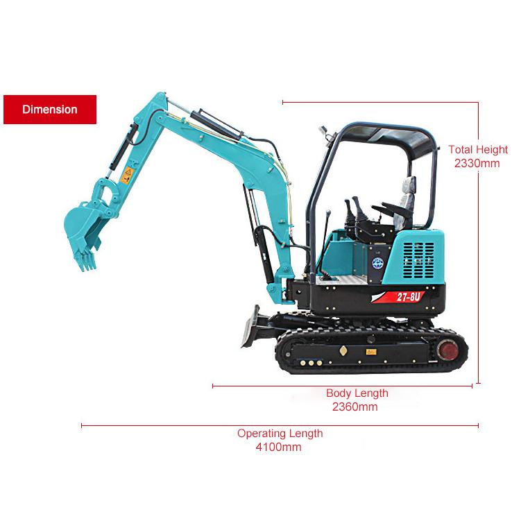 YG27-8U Mini crawler excavator