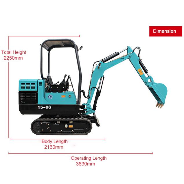 15-9G Mini crawler excavator