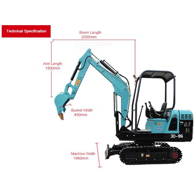 30-9G Mini crawler excavator