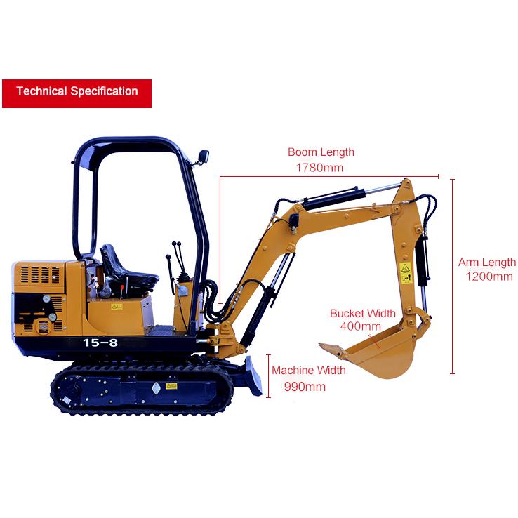 YG15-8S Mini crawler excavator