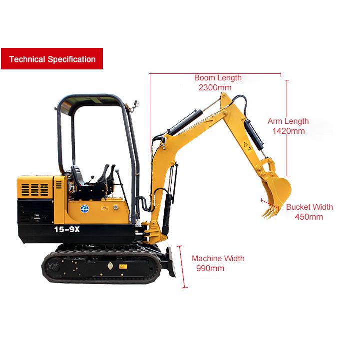YG15-9X Mini crawler excavator
