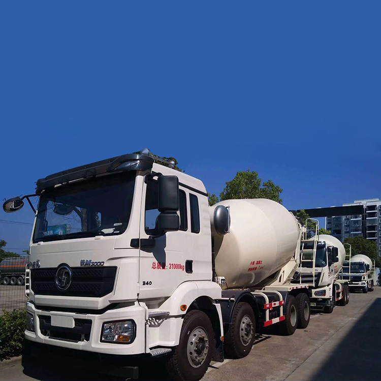 Shanxi Automobile Delong 12m³ Lightweight Concrete Mixer Truck