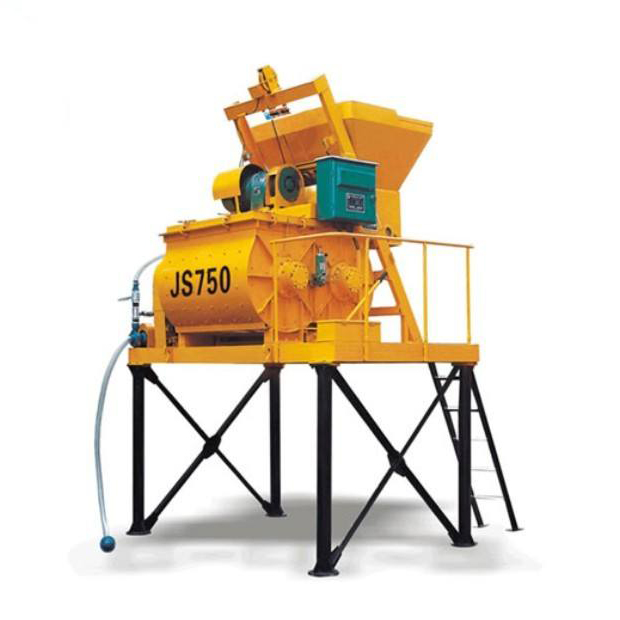 JS500 Double Horizontal Shaft Forced Concrete Mixer