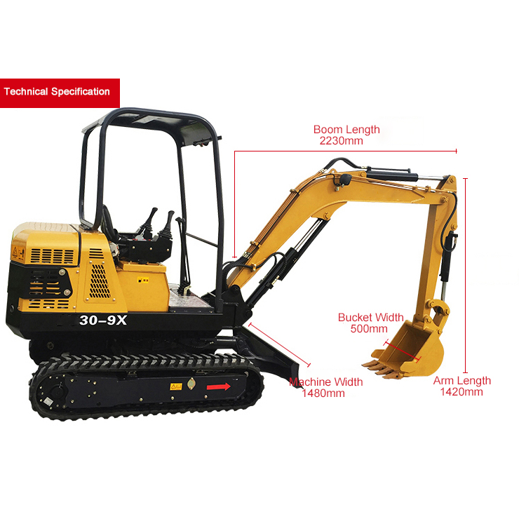 30-9X Mini crawler excavator