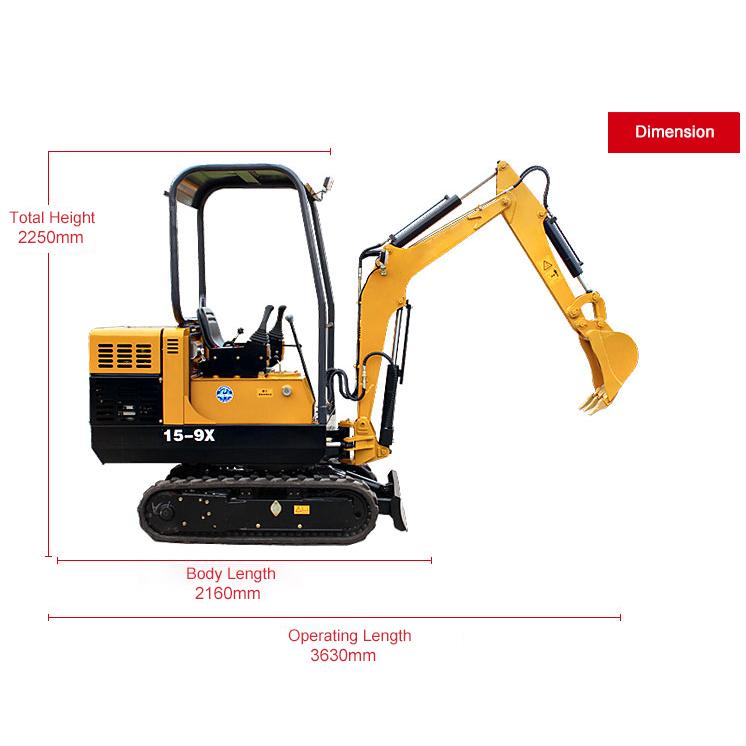 15-9X Mini crawler excavator
