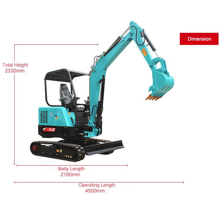 30-8U Mini crawler excavator