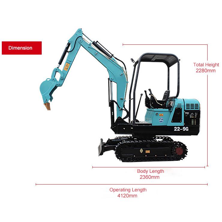 22-9G Mini crawler excavator