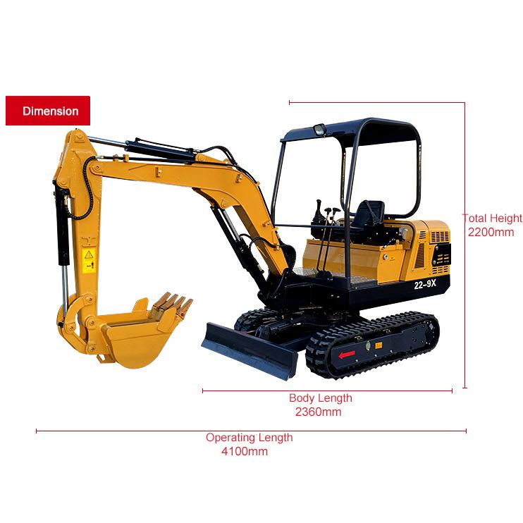 22-9X Mini crawler excavator