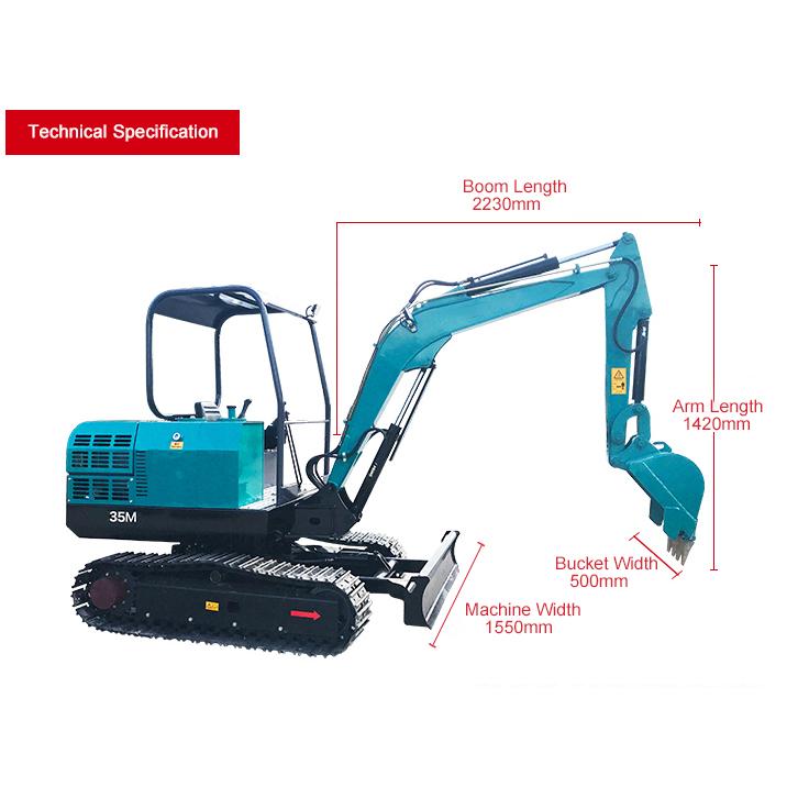 35M Mini crawler excavator