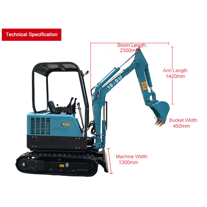 18-9U Mini crawler excavator